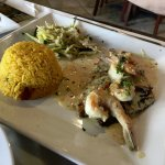 Grouper with shrimp
