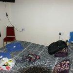 bijou room with knackered matress and flat pillows