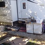 AC units, dishwasher and dryer and other junk in long-term site.