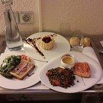 Un plateau dîner très copieux