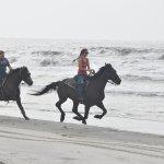 The experienced beach ride!