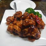 general tso chicken, all white meat ( rice served on the side)