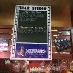 Star Studio - the platt du jour menu.