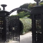 Poison garden entrance. Deadly plants inside