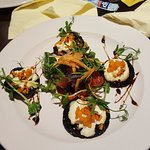 mushrooms with goat cheese