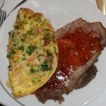 Seafood Omelet and Prime Rib