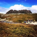 Lunch with a Cradle Mountain backdrop