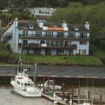 Depoe Bay Inn from Highway 101 on the Oregon coast.