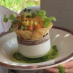 Lunch menu: The excellent curry-shrimp salad.
