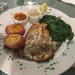 Tile fish, sauted spinach and red potatoes