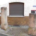 博物館の横?にある石柱