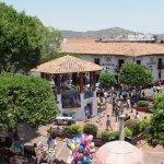 Vista de la plaza desde el restaurante