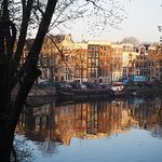 View over the Amstel Canal from my window