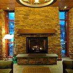 Cozy fireside lounge
