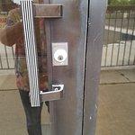 No keycard lock on back door