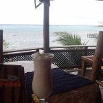 Best Pina Colada on Roatan complete with a fantastic view at The Sunken Fish