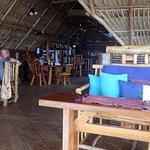 Great comfy seat & Best Pina Colada on Roatan complete with a fantastic view at The Sunken Fish