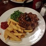The steak and ale pie. It was delicious and very filling.