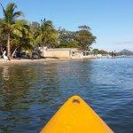 the hostel has free kayaks