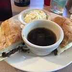 French Dip with Coleslaw