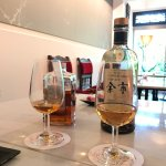 Whiskey tasting at happy hour (the Yoichi was the winner)