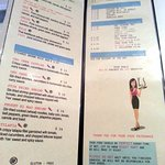 pages 5 & 6 of menu