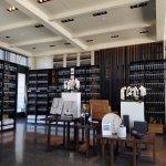 Stratus indoor view of art and wine