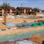 3-Acre Water Park featuring Wave Pool, Lazy River, Water Volleyball, Rope Obstacles & Kiddie Poo