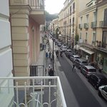 View of Corso Italia from balcony.
