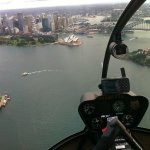 Flying high over Sydney Harbour