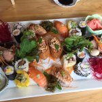 Sushi lunch platter for two