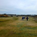 Walking along the Old Course