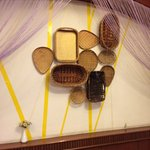 An unusual bread basket mural in the breakfast area????