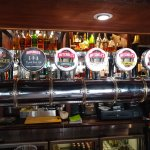 Different in-house craft beers on tap