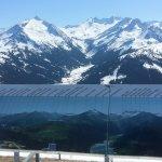 Mountain view from the ski slopes