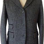 """Harris Tweed Ladies """"Sarah"""" Jacket with Velvet trim"""