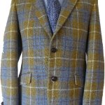 Harris Tweed Limited Edition Gold Check Jacket with Paisley Lining