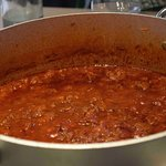 Fabulously delicious tomato sauce with local salsiccia.