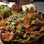 Massive plate of Nacho's with all the fixin's!