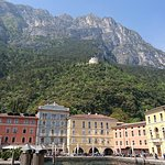 Lakeside in Riva del Garda, looking up to Bastione