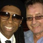 Mick with Nile Rodgers