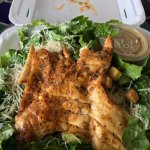 Great grilled shrimp and grouper ceaser salads. These pictures are from out first trip. We have