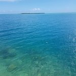 Вид на остров Кокос с берега Гуам.