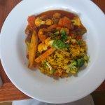Curry africano. Ótima opção para vegetarianos.