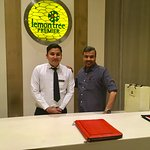 With Roshan Singh