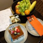 Birthday treat from Grand Copthorne, they remembered it! Thanks