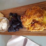Lovely savoury scone with a cheese board