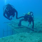 Diving to Zenobia boat. Depth = 20 - 28 meters and even deeper, t = 18+ C on April.