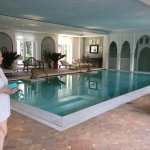 beautiful indoor pool and spa