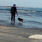 Passeggiata con la bassa marea